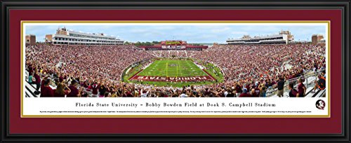 Florida State Football - End Zone - Blakeway Panoramas College Sports Posters with Deluxe Frame