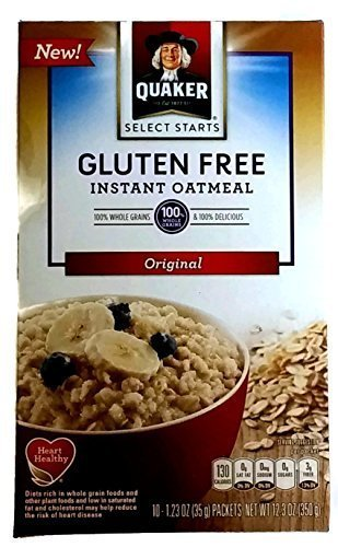 New Quaker Select Starts Gluten Free Instant Oatmeal, Original, 12.3 oz Box with 10-1.23 oz (New Oatmeal)