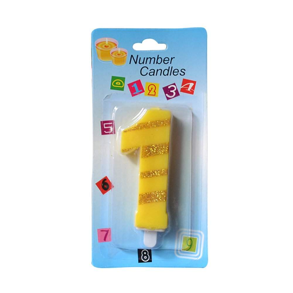 Amazon Ornerx Number 7 Birthday Candles Happy 7th Supplies Kitchen Dining