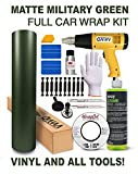 VViViD Complete Matte Vinyl Car Wrap Kit Including All Tools (Full Sedan Wrap Kit (50ft), Military Green)