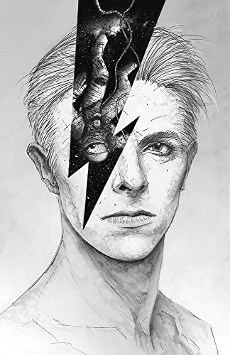 (Rainbowie Giclee print from a pencil drawing of David Bowie)