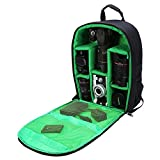 G-raphy Camera Bag Camera Backpack with Rain Cover for DSLR Cameras , Lens, Tripod and Accessories (Green, Large)