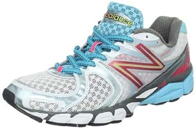 New Balance Women's W1260v3 Running Shoe,White/Blue,5 B US