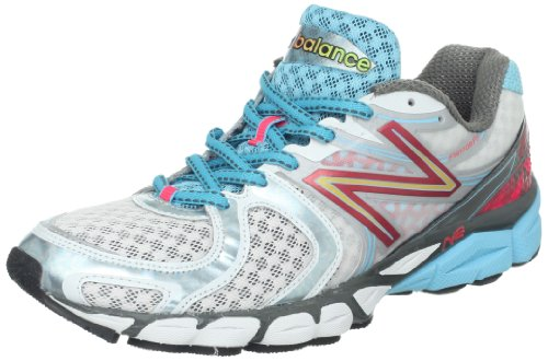 New Balance Womens W1260v3 Running Shoe White/Blue