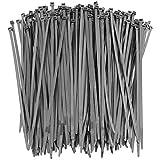 250 Premium Heavy Duty 10 Inch Zip Ties   Black Nylon Cable Ties   XGS Wire Ties by APTronix (10 Inch, Black)