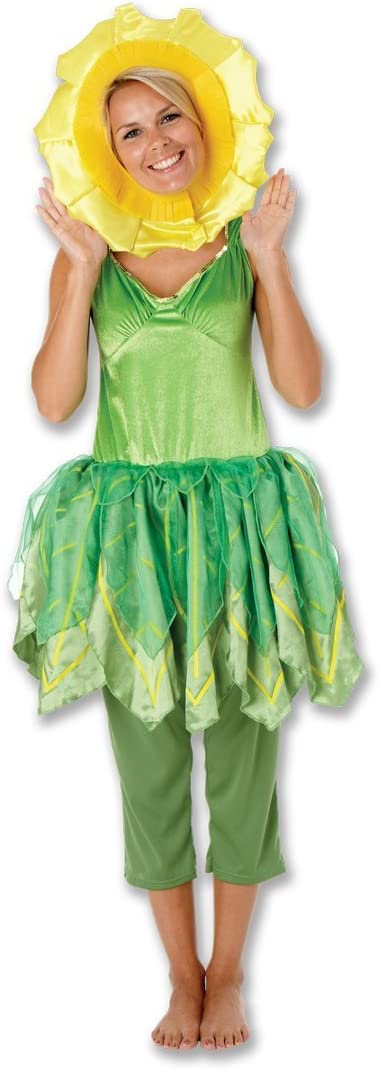 Rubbies - Disfraz de girasol para mujer, talla UK 8-10 (889128S ...