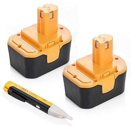 Driver 14v Drill - Powerextra 2 Pack 3000mAh Ryobi 14.4V Battery Compatible with Ryobi R10521 RY6201 RY6202 130224010 130224011 130281002 1314702 1400144 1400655 1400656 1400671 4400011 Tool