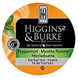 Higgins & Burke Tea Capsules, Peppermint Package compatible with Keurig K-Cup Brewers, 48 Count