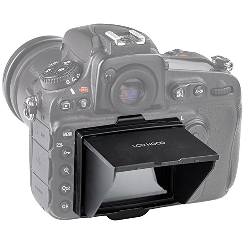 STSEETOP Nikon D800 D810 Sun Shade Screen Protector,Professional Camera Sunshade Visor LCD Hood Screen Protector for Nikon D800 D800E D810 D810A