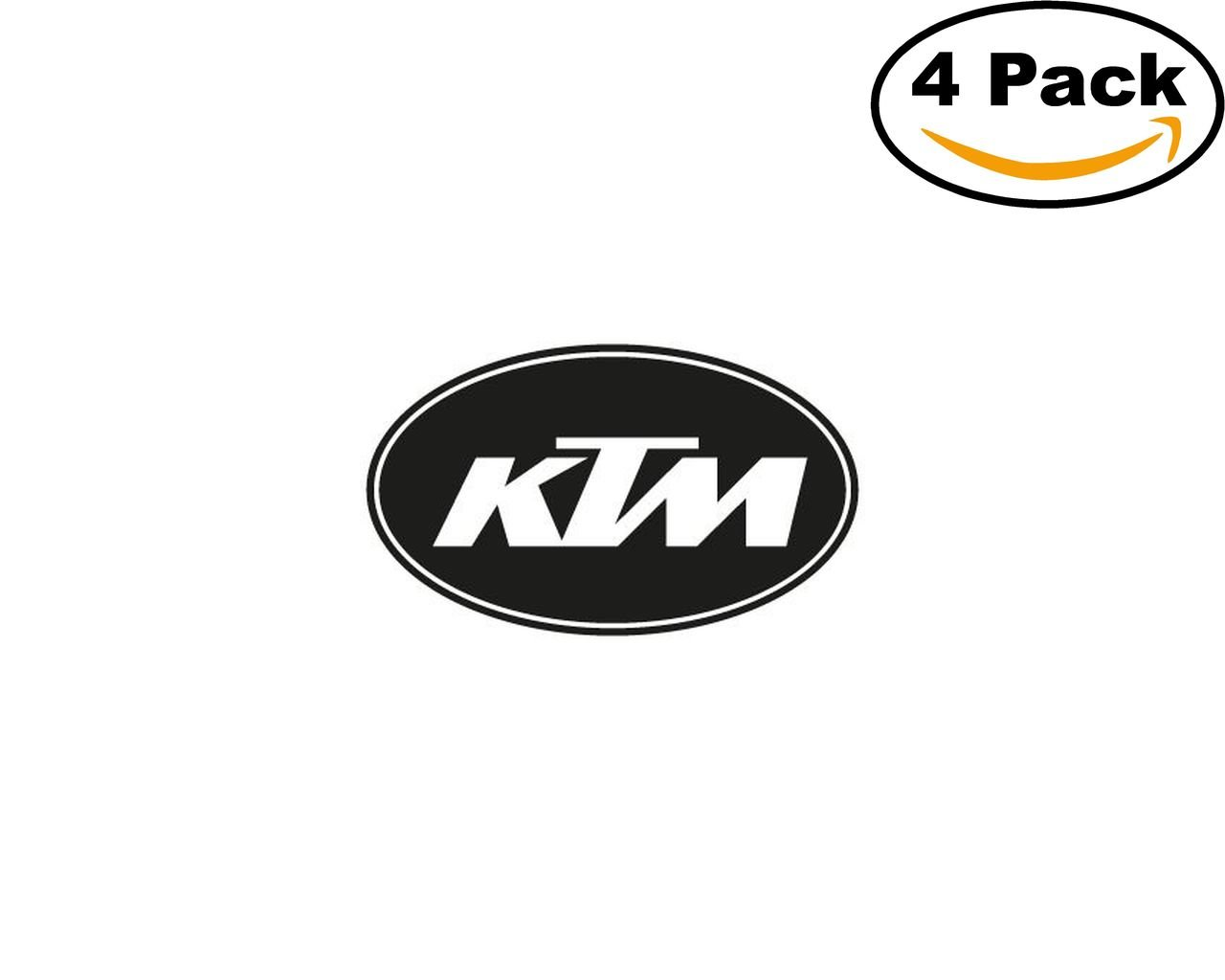 ktm auto 4 Stickers 4x4 Inches Car Bumper Window Sticker Decal canvasbylam