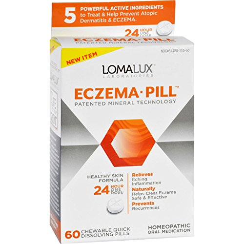 Loma Lux Laboratories Acne Eczema - Chewable - Quick Dissolving - 60 Count - Gluten Free - Yeast Free-Wheat Free-