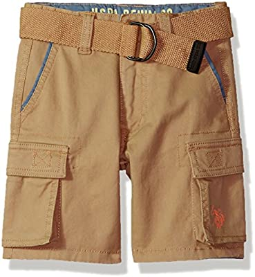 U.S Boys 5 Pocket Belted Stretch Twill Pant Polo Assn