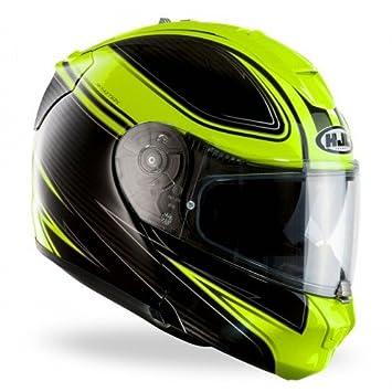 HJC - Casco de moto, amarillo fluorescente, talla XS