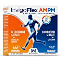 Glucosamine Sulfate + Chondroitin Sulfate (Pharmaceutical Grade) with Boswellia Serrata and Curcumin (Turmeric) - 24 Hour Joint Pain Relief by InvigoFlex AMPM™ for Knees, Hands, Back, and Hips