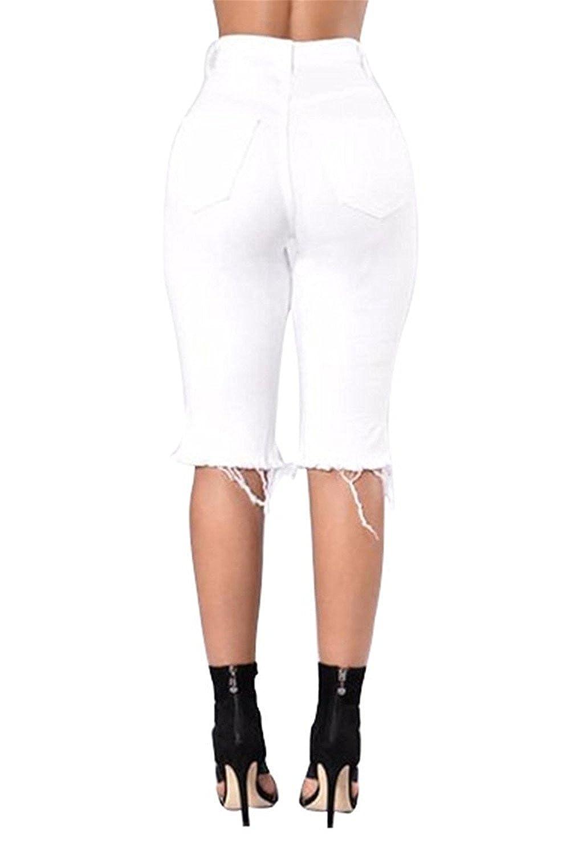 71977e5434 Women Coats, Jackets & Vests Cheryl Bull Popular Womens Distressed Cut Off  Hole Ripped Jean Shorts ...
