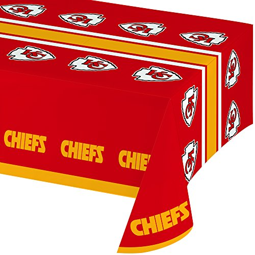 Creative Converting All Over Print Kansas City Chiefs Plastic Banquet Table Cover (City Party Decorations)
