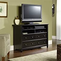 Pemberly Row 45 Highboy TV Stand in Estate Black
