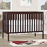 Dream On Me Pine Wood Finish Synergy 5-in-1 Convertible Multipurpose Baby Crib - Brown