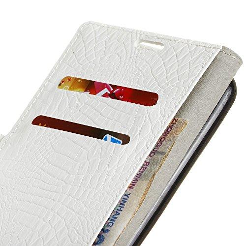 SRY-Conjuntos de teléfonos móviles de Huawei Para Huawei Hornor 9, cubierta magnética de la caja de la bolsa de la carpeta del soporte del tirón del encierro, caja de cuero de la PU de SkinTexture del White