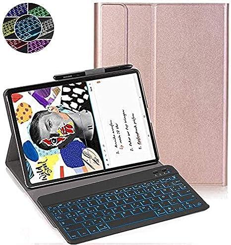 Blu 7 Colori Backlit Tastiera Wireless con Cover Protettiva per Samsung Galaxy Tab S6 Lite 10.4 P615//P610 RLTech Tastiera Custodia per Samsung Galaxy Tab S6 Lite, Italiana Layout