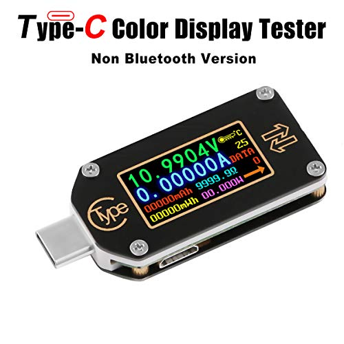 MakerHawk USB Power Meter, TC66 USB Tester Type C USB Voltage Meter and Current Tester, 0.96 Inch IPS Color LCD Display Power Tester Multimeter PD Ammeter Voltmeter QC 2.0 3.0