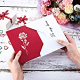 3D Greeting Card 3D Rose Pop UP Greeting Card, Rose
