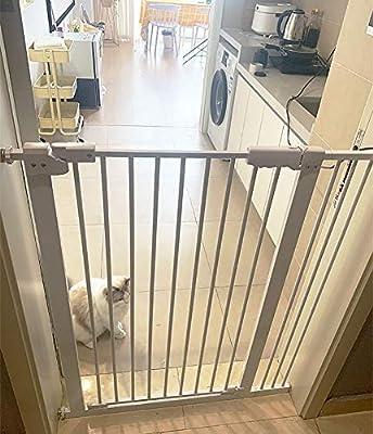 Puertas De Seguridad para Mascotas Extra Anchas, Cocina/Escaleras/Puertas/Recibidor/Sala De Estar Puerta De Metal, Blanco, Alto 78cm (Size : 61-71cm): Amazon.es: Hogar