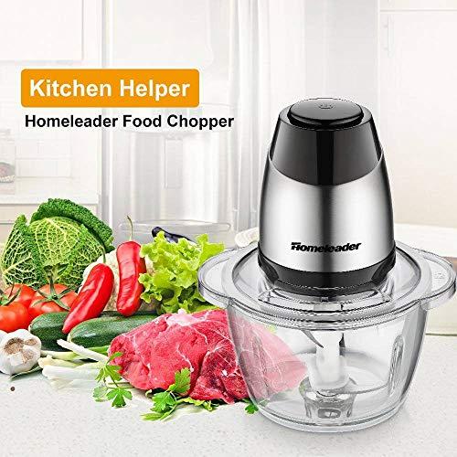 (Homeleader Food Chopper Meat Grinder Electric Food Processor Blender Mincer for Meat Vegetables Fruits and Nuts)