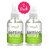 Makeup Setting Spray with Organic Green Tea, MSM and DMAE – A Must for Your Natural Anti Aging Skincare Routine – large 4 ounce bottle (2-Pack) Review