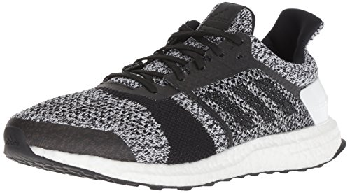 - adidas Men's Ultraboost ST Running Shoe, White/Black/Silver Metallic, 8 M US