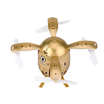 Mini Drone RC Plegable, Small Gold Egg Plegable Modo sin Cabeza ...