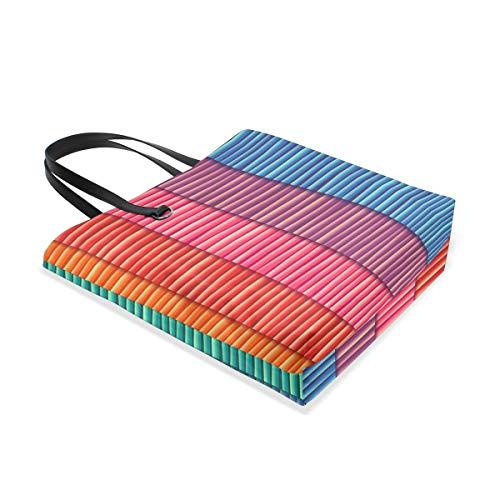 Line Tote Bolso Mujer Bennigiry Al Hombro 001 Rainbow Única Para Stripes Talla zdqBdpw