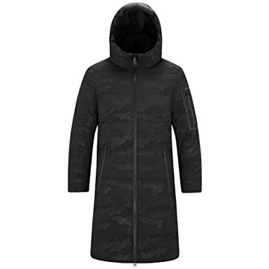d06fd6984 Mens Long Parka, Classic Faux Fur Hooded Down Jacket Long Puffer ...