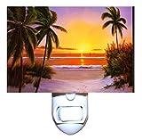 Tropical Beach Sunset Decorative Night Light