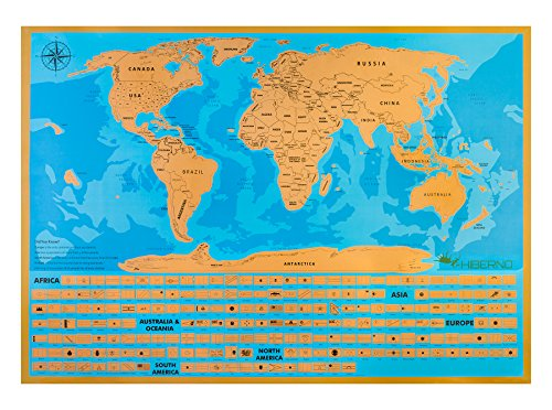 Hiberno Scratch The World Travel Map Usa States And All Import It All
