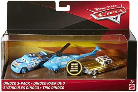 Disney Pixar Cars voitures Dinoco, pack de véhicules, Tex, le King, hélicoptère, jouet pour Enfant, FLJ92