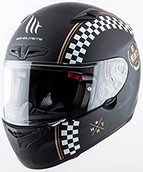 MT - Casco Integral de Fibra MT MATRIX CAFE RACER Negro Mate Talla L