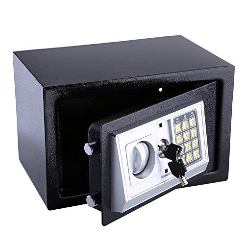 8.5L Safe Box, Home Safe Solid Steel Electronic Digital Safety Security Box Cabinet Safe, Lock Box, Cash Box, for…