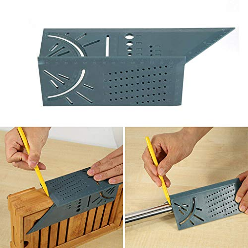 - Tpingfe Woodworking 3D Mitre Angle Measuring Square Size Measure Tool with Gauge & Ruler