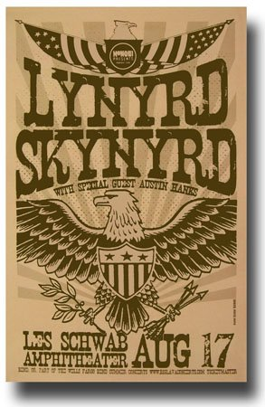 Lynyrd Skynyrd Poster - 11 x 17 Promo for a Concert on the One More For The Fans Tour -- (Lynyrd Skynyrd Posters)