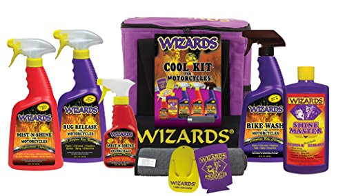 Wizards Motorcylce Cleaner Kits (Motorcycle Cool Kit (8 pc))