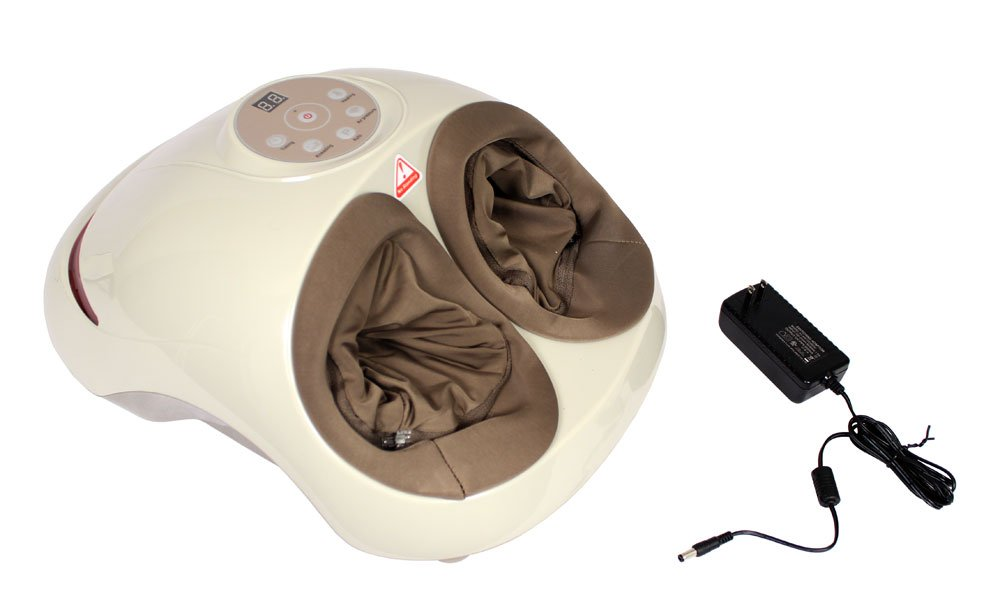 Shiatsu Foot Massager By Clever Creations | Foot Massager Machine for Relaxation - Relief of Sore Feet - Foot Care | Variable Settings for Heat and Intensity | Fits Most Foot Sizes