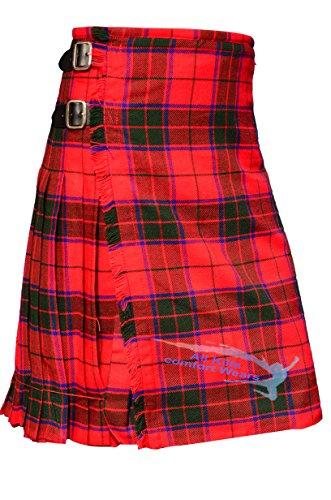 Scottish Rose (Robertson Tartan) 8 Yard & 13Oz Tartan Kilt (8 Yard Kilt)