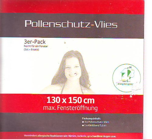 Hecht Profi Pollenschutz / Insektenschutz /Mü ckenschutz -Vlies (3 Stü ck)-ohne chemische Wirkstoffe Hecht international 70622