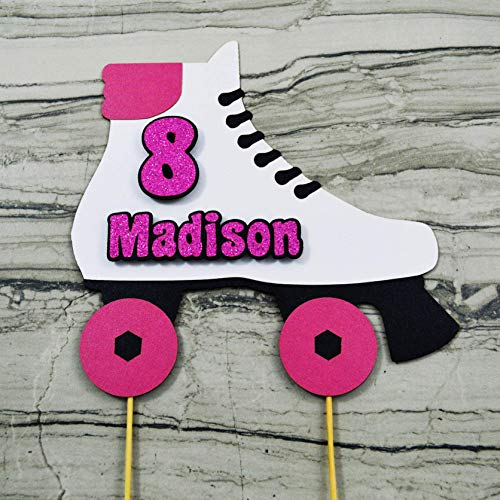 Roller Skate Cake Topper - Personalized with Name and ()