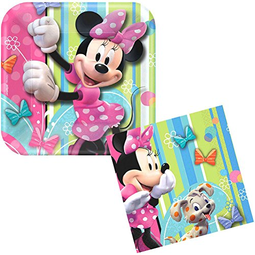 Minnie Mouse Party Supplies Pack for 16 Guests Includes: Plates and (Minnie Mouse Plates)