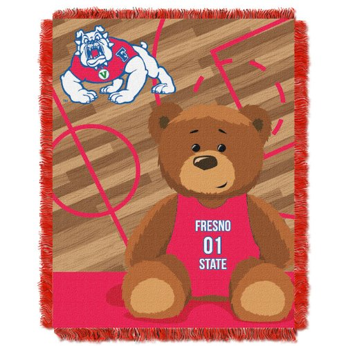 The Northwest Company FRESNO STATE BULLDOGS FULLBACK BABY TRIPLE WOVEN JACQUARD THROW Bulldogs Triple Woven Throw