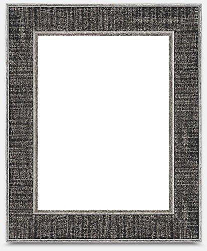 Rustic Hardwood Frame (18x36, Rustic Black & Silver) (Hardwood Rustic Frame)