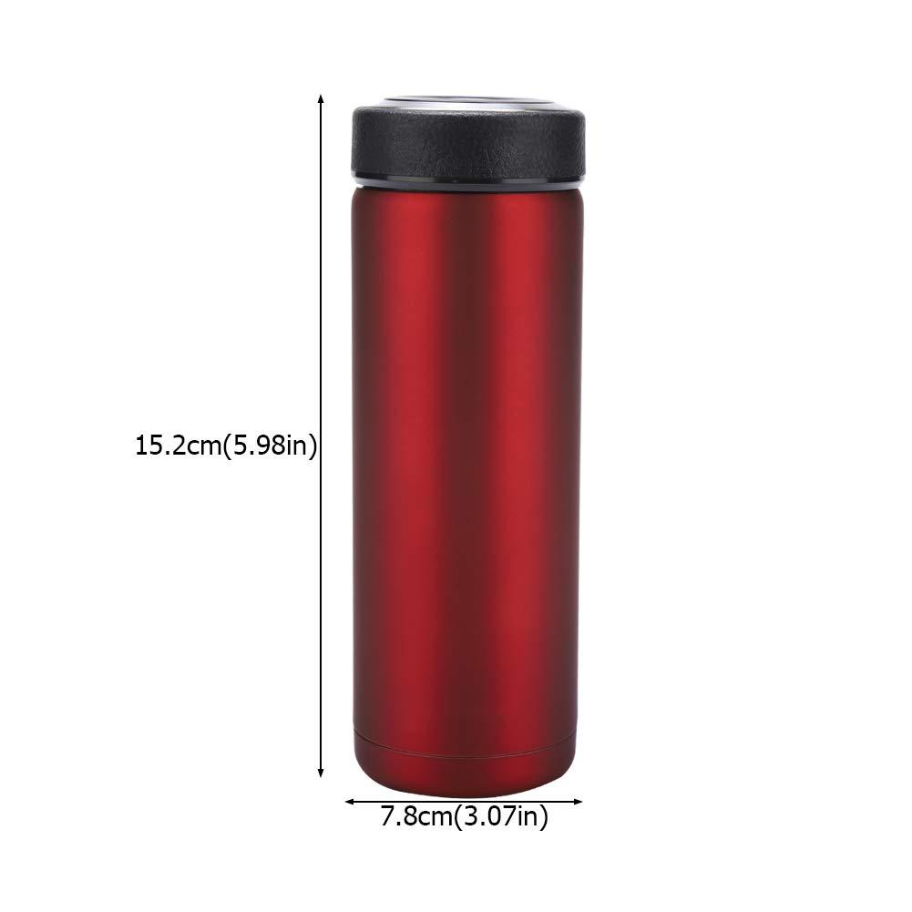 Acero Inoxidable De Doble Pared con Aislamiento Termo Botella Vac/ío Botella de Agua t/érmica 400ML Filtro para infusiones