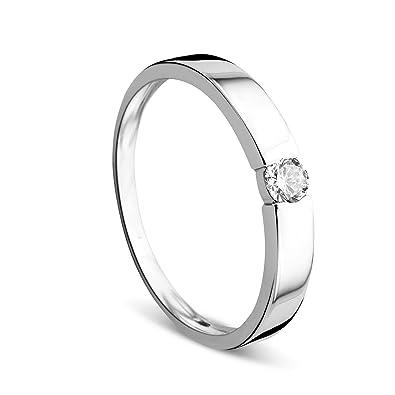 05fe34992e7f orovi Anillo Anillos de Compromiso para Mujer Oro Jewels - Anillo anillo de  diamante 14 quilates (585) brillianten 0.13 ct anillo de oro blanco con ...